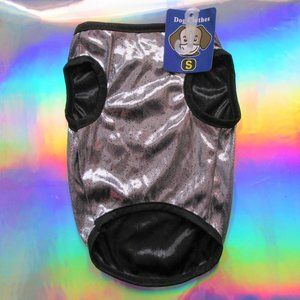 Other - NEW silver metallic dog clothes shirt cosplay